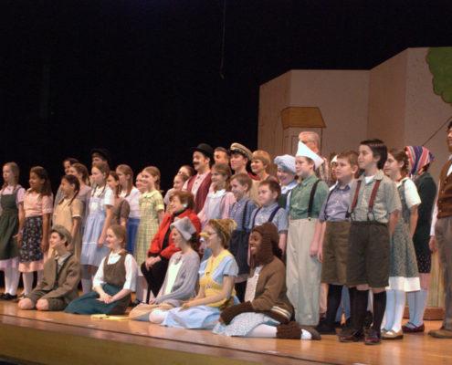 Brundibar cast on stage