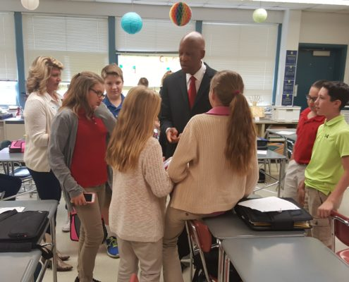 Terrence Roberts and students